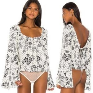 Free People One on One Floral Bodysuit NWT